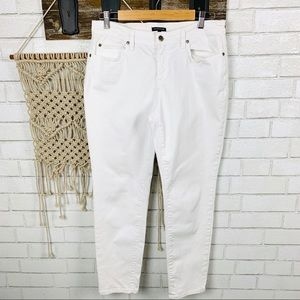 Eileen Fisher White  skinny Jeans size 10